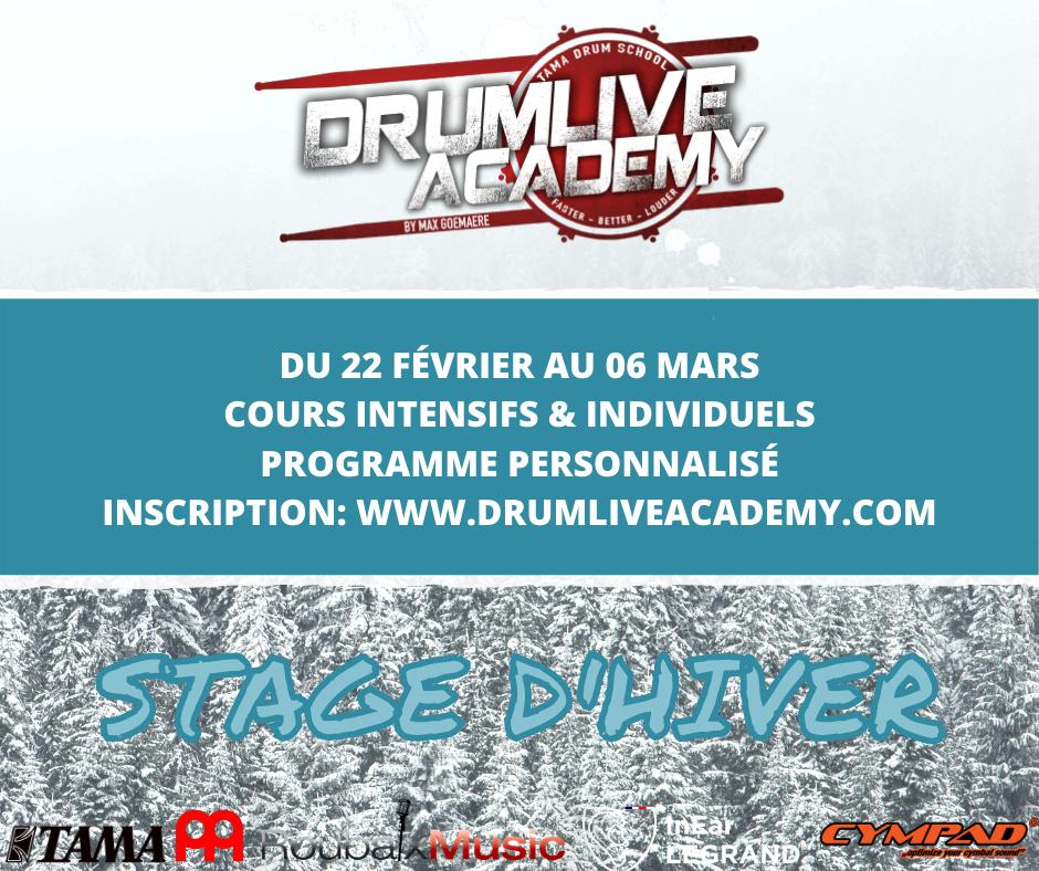 Stage intensif de batterie, à la Drumlive Academy